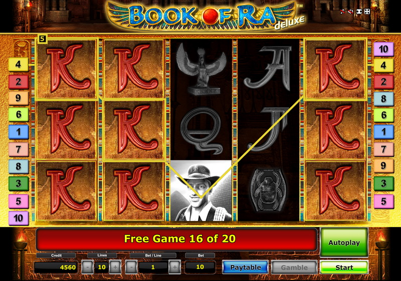 Book of Ra deluxe free spin