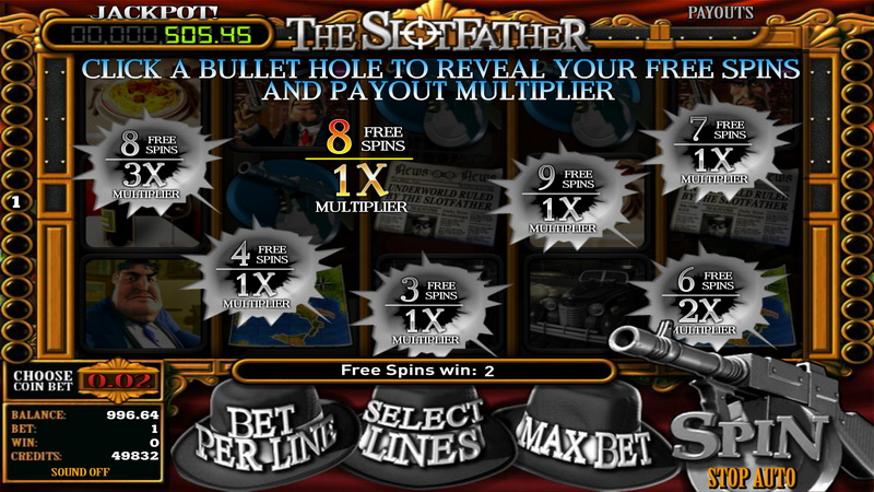 The Slotfather Choose your Bonus