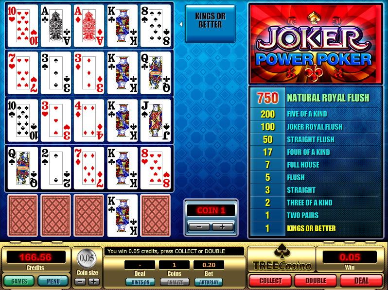 video joker poker free games