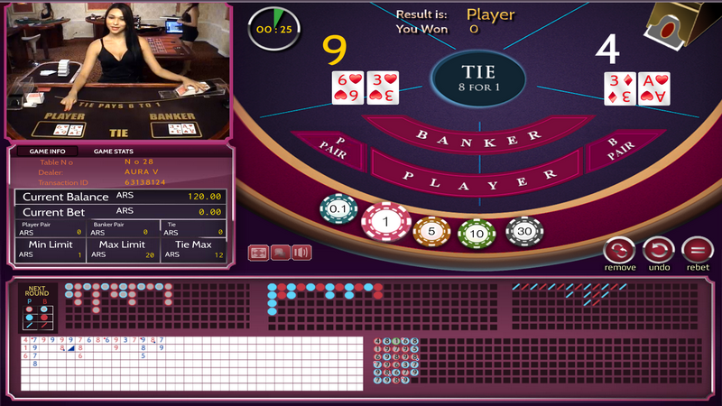 Dealers en vivo - Baccarat