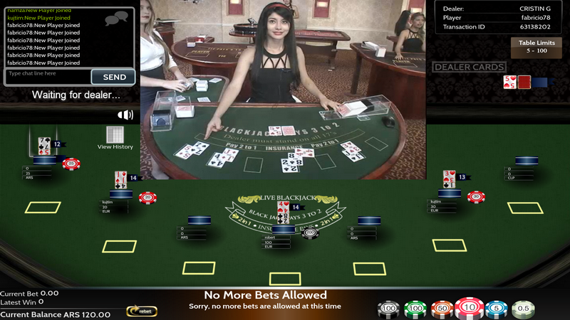 Live Casino game - Blackjack