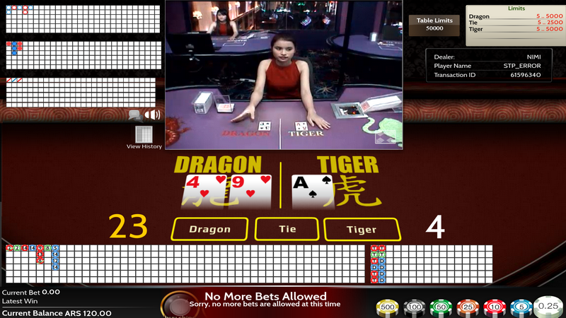 Live Dealers - Dragon & Tiger