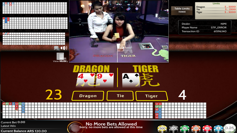 Live Dealers with pitboss - Dragon & Tiger
